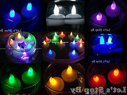 12 Flameless Floating waterproof LED tealight Candle Battery