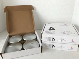 12 NEW Silver Unscented Mega Floating Candles