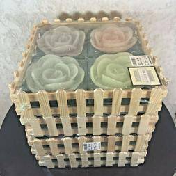 """16 Large Floating Candles Flowers Purple Blue Pink Green 5"""""""