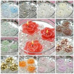 """2.5"""" wide Wedding Roses Flowers Floating Candles Centerpiece"""