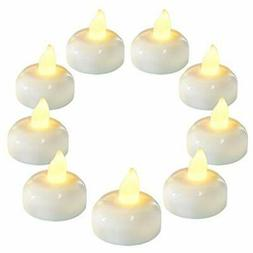 36 Pack Flameless Floating Candles, Warm White Led Flickerin