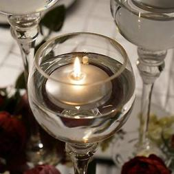 """4 SILVER 3"""" wide Round Discs Floating Unscented Candles Ligh"""
