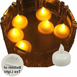 6 Flameless Floating LED tealight Candle Battery operated Am