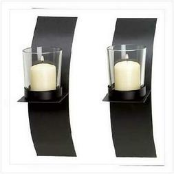 Gifts & Decor Modern Art Candle Holder Wall Sconce Plaque, S
