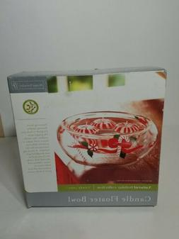 Candle Floater Bowl home trends candy cane natural holiday c