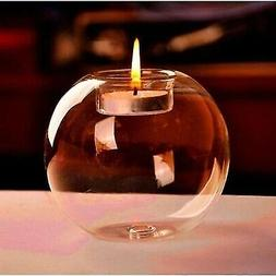 Candle Holder Glass Centerpieces Transparent New year Decor