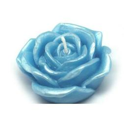 Zest Candle CFZ-075 3 in. Blue Rose Floating Candles -12pc-B