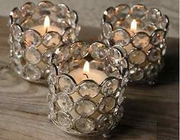Crystal Votive Tealight Candle Holders wedding Table Centerp