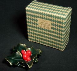 Avon Holly Leaf And Berries Floating Candle 1999