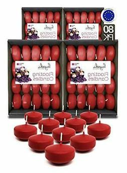 Hyoola Premium Red Floating Candles 2 Inch - 4 Hour - 80 Pac