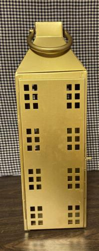 NWT Threshold Gold Tall Metal House Candle Holder