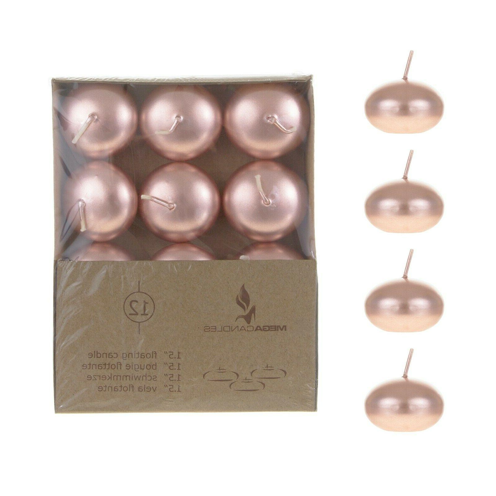 unscented 1 5 floating disc candles rose