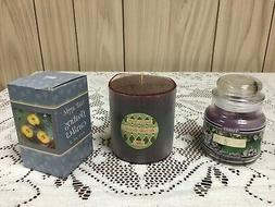 MIXED LOT OF CANDLES - YANKEE CANDLE, FLOATING APPLES , BAKE