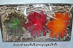NEW HTF Authentic ILLUMINATIONS Set of 3 Leaves Floating Can