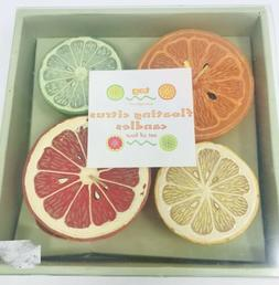 New Tag Ltd Floating Citrus Candles 4 Pack