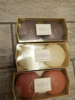 NIB Pottery Barn Set of 2  Disk Floating Candles , 3 boxes -