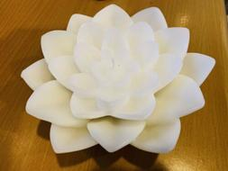 Set Of 2 Illuminations Lotus Floater With Refill Candle- Whi