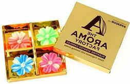 The Aroma Factory Wax Floating Candles, Smokeless with 4 Hou