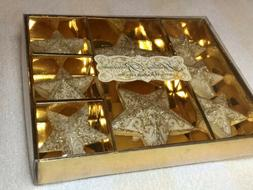 Vintage Holiday Romance Set Of 8 Scented Floating Gold Tone